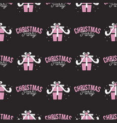 christmas party pattern holiday seamless vector image