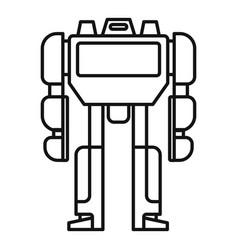 cinema robot transformer icon outline style vector image