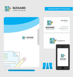 cv business logo file cover visiting card and vector image