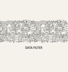 Data filter banner concept vector