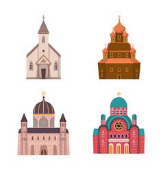 Design religion and building symbol set vector