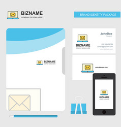 email on laptop business logo file cover visiting vector image