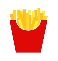 Fast food fried french gold fries potatoes vector