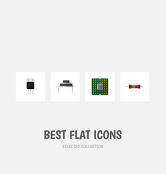 Flat icon electronics set of destination vector