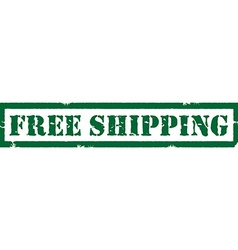 Free shipping stamp vector image