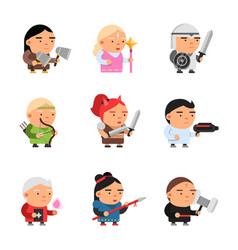 Game fantasy characters computer 2d gaming fairy vector
