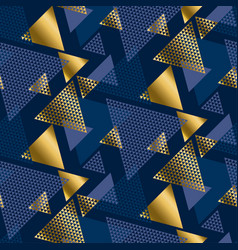gold and blue elegant geometric repeatable motif vector image