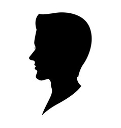 graphic human head vector image