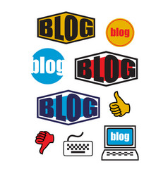Graphic set for blogs vector