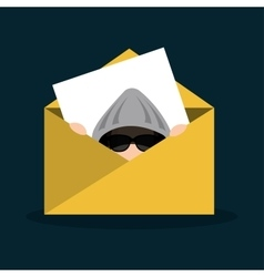hacker email message secure icon vector image