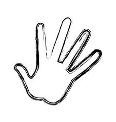 Hand showing five fingers high five sign gesture vector