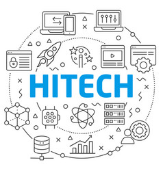 hitech linear slide vector image