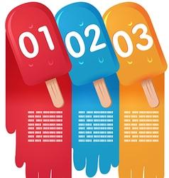 Ice Cream Sweet Info Graphic vector image