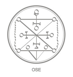 Icon with symbol demon ose vector