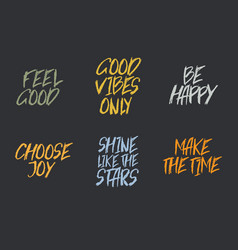 inspirational quote typographical background made vector image