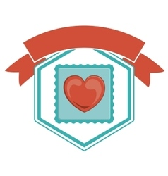 Isolated heart of love concept vector