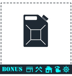 Jerrycan oil icon flat vector