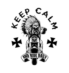 keep calm and ride vector image