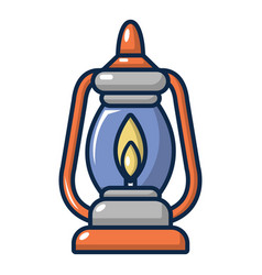 kerosene lamp icon cartoon style vector image