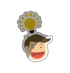Man head cartoon vector