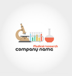 Medical research and company name vector