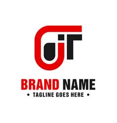 modern logo design letter jt vector image