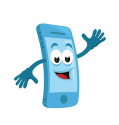 modern smart phone mascot character vector image