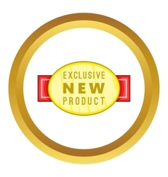 New exclusive product label icon vector