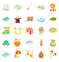 New impression icons set cartoon style vector