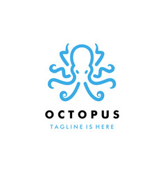 octopus kraken logo icon template vector image