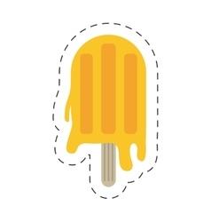 Orange popsicle icon image vector