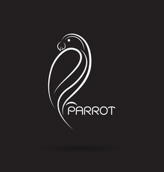 parrot design on black background bird icon vector image