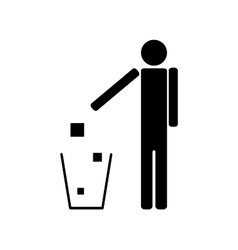 People throwing trash ecology vector image