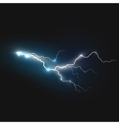 Realistic lightning symbol vector image
