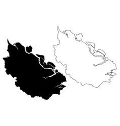 riau map vector image