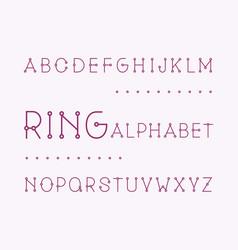 Ring regular font alphabet vector
