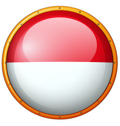 round badge with indonesia flag vector image