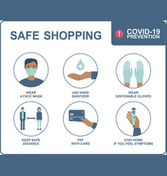 safe shopping in public places vector image