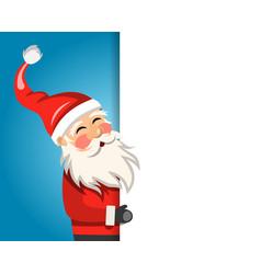 santa claus cartoon character with clean sheet vector image