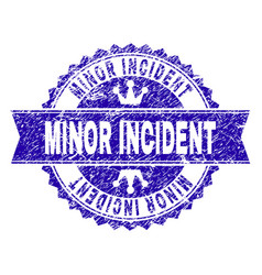 Scratched textured minor incident stamp seal with vector