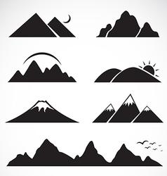 Set mountain icons vector