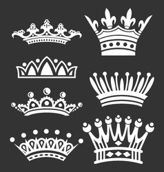 silhouettes of crowns vector image