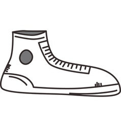 Simple shoe sketch design vector