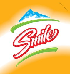 SMILE hand lettering vector image