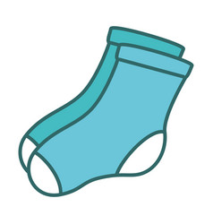 socks hanging in the laundry vector image