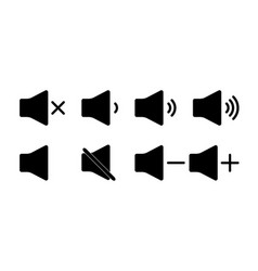 sound icon mute volume and audio up or down vector image