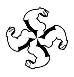 strong swastika logo for aggressive fighters vector image