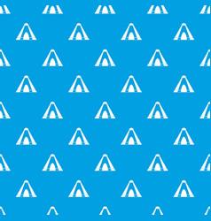 Tepee pattern seamless blue vector
