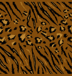 Tiger leopard texture seamless animal pattern vector