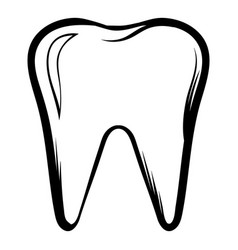 Tooth icon cartoon vector